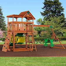 Sears Backyard Playsets Backyard Discovery Arizona Cedar Wooden Swing Set Kid Stuff