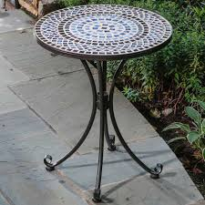 outdoor mosaic bistro table gorgeous tile bistro table with mosaic garden tables furniture