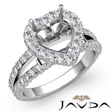 heart shaped diamond engagement rings diamond engagement heart shape ring 18k white gold halo setting