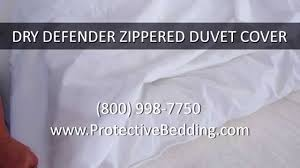 dry defender zippered duvet cover youtube