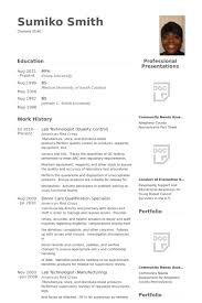 American Resume Examples by Quality Control Resume Samples Visualcv Resume Samples Database
