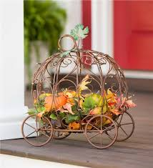 pumpkin carriage lighted pumpkin carriage decorations