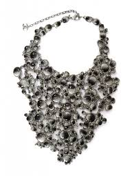 black rhinestone necklace images Chanel black grey glass rhinestone bib runway necklace jpg