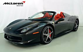 used 458 spider 2014 458 spider for sale in norwell ma 200173 mclaren