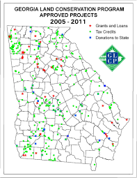 State Map Of Georgia by Maps Georgia Land Conservation Program