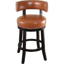 bar stools wood and leather leather bar stools you ll love wayfair