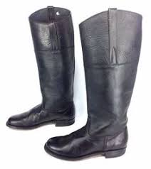 vintage womens boots size 11 s footprints by birkenstock germany made black leather boots