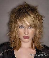 short choppy razored hairstyles medium length hair with short choppy layers background wallpaper