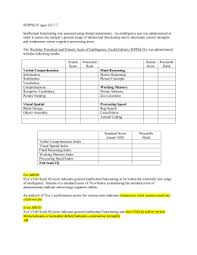 wppsi iv report template achievement template wrmt iii