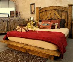 Log Home Bedrooms Enchanting Log Cabin Style Bunk Beds Using Exotic Wood For Bed