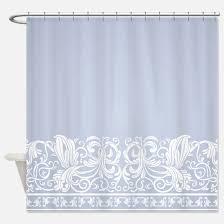 Blue Damask Shower Curtain Blue Damask Shower Curtains Cafepress