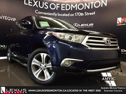 toyota lexus used car used blue 2011 toyota highlander 4wd review airdrie alberta