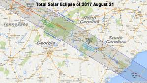 Highly Detailed River Map Of by Total Eclipse Of The Sun August 21 2017