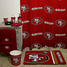 49ers Crib Bedding Nfl San Francisco 49ers Decorative Bath Collection 12pc Shower