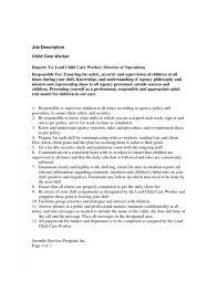 cover letter resume for childcare child care skills for resume