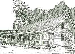 Log House Plans Wyoming Log Home Plan