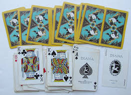 1920s vintage diana cards deck ducks design gibson co