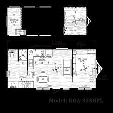 floor plan koa 33 shpl koa deluxe cabins by cavco house plans