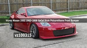 nissan 350z nismo spoiler vicrez nissan 350z 2003 2008 socal style polyurethane front bumper