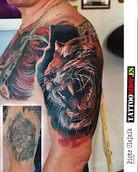 tiger cover up tattoo on shoulder best tattoo ideas gallery