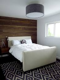 blue accent wall in bedroom bedroom contemporary with black drum