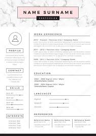 Ut Resume Resume Template With Marble Texture U2014 Stock Vector Hellena13