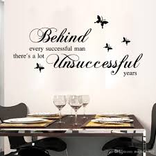 Home Decor Quotes by Black English Quote Wall Sticker Behind Every Successful Man Wall