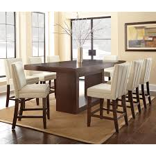 dining room elegant tall dining table for sensational dining room large rectangle brown wooden tall dining table with set of 8 white dining chairs for dining