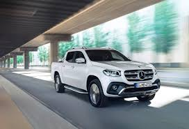 mercedes shares merc bakkie makes its international debut in the cape