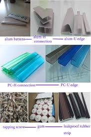 Clear Corrugated Plastic Roof Panel Greenhouse by Aluminum Frame Polycarbonate Tempered Glass Organic Glass Panel