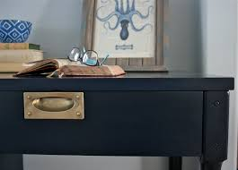 My Gold Desk Coastal Blue Desk Saw Nail And Paint