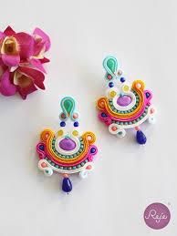soutache earrings soutache earrings entirely sewn by reje italian jewelry