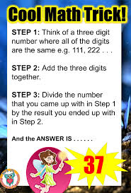 light me up math worksheet answers math trick where your answer will always be 37 get some