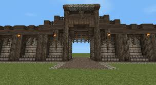 Minecraft Project Ideas Detailed Medieval Wall Entrance Now With Added Guard Tower