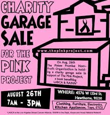 the pink project garage sale flyer 2