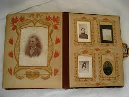 antique photo album nouveau celluloid portrait photo album antique
