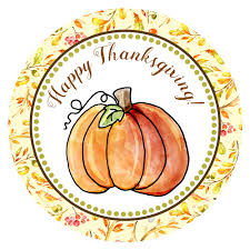 happy thanksgiving pumpkin stickers for fall autumn season set of 30