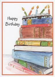 Book Birthday Card Reading Birthday Card Handmade Reading Birthday Cards