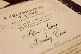 sle wording for wedding programs wedding invitation etiquette special wording circumstances