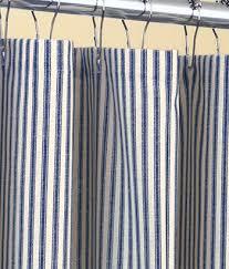Shower Curtain Striped Classic Ticking Stripe Shower Curtain Navy Blue By Kirtamdesigns