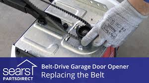 guardian garage door opener replacing the belt on a belt drive garage door opener youtube