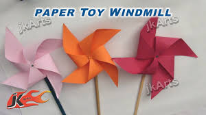 diy how to make paper toy windmill easy craft for kids jk arts 256