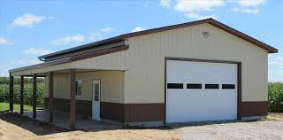 gambrel metal garage kits with living quarters steel buildings for
