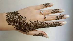 perfect amazing henna flower hand tattoo for cool women