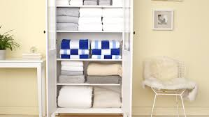 Organizing A Closet by Video How To Organize A Linen Closet Martha Stewart