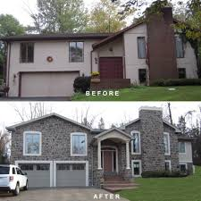 Home Exterior Design Brick And Stone Bi Level Exterior Remodeling Bi Level Exterior Make Over