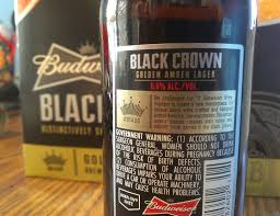 how many calories in a can of bud light budweiser black crown beer review half assed productions