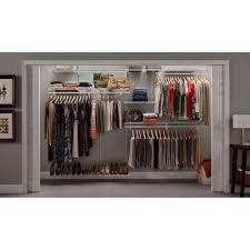 closet organizer system kit shelftrack 7 u0027 x 10 u0027 white metal wire
