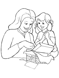 mother and daughter coloring pages to download and print for free