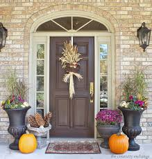 Outdoor Fall Decor Ideas - small front porch fall decorating ideas 3999